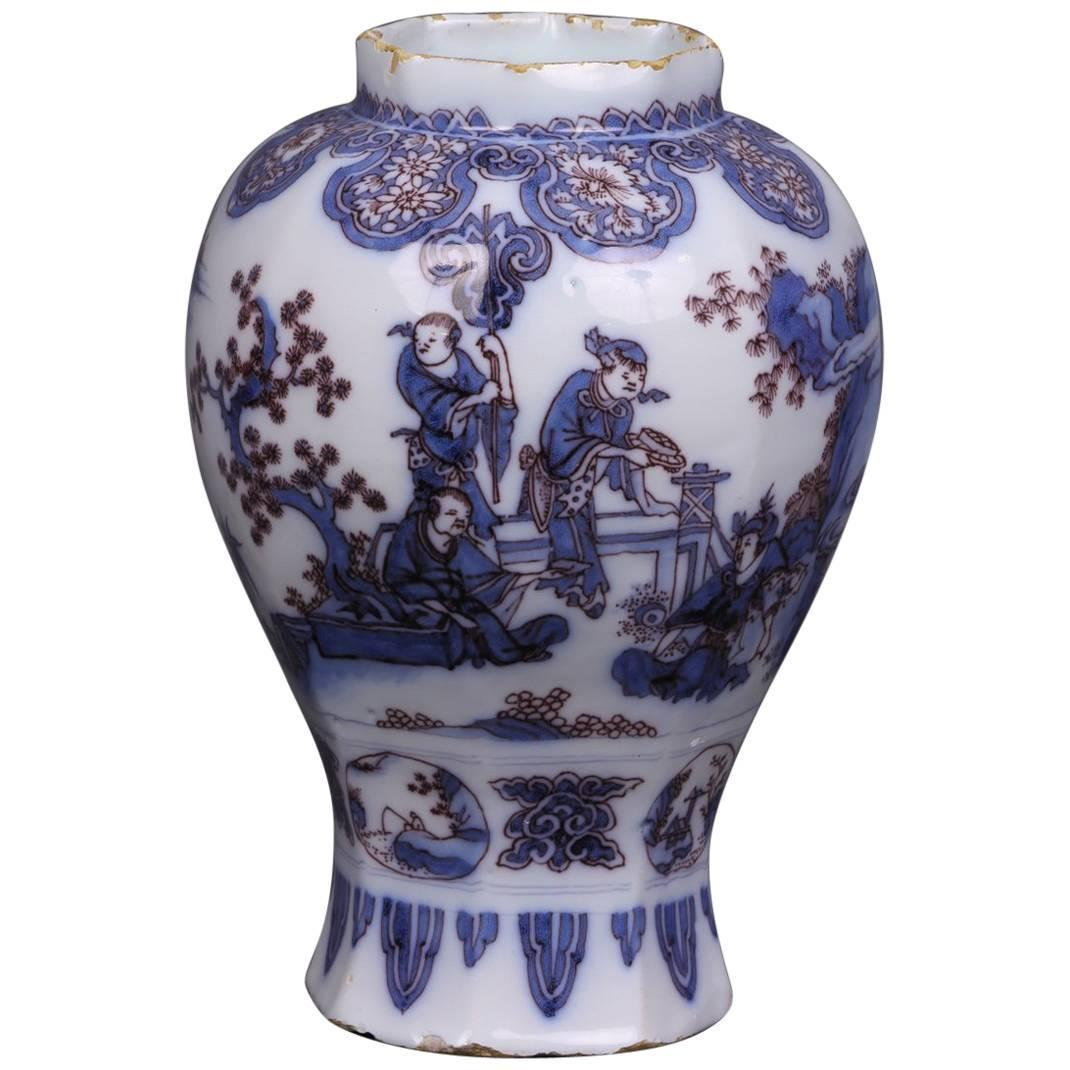 Delft faence vase decorated chinese scenes 17th century for sale delft faence vase decorated chinese scenes 17th century for sale at 1stdibs reviewsmspy