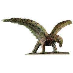 Early 20th Century Handmade Weathered Eagle Sculpture