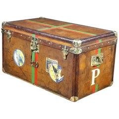 1893 Goyard Leather Steamer Trunk