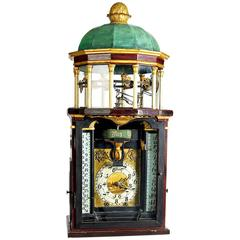 Astronomical Striking Clock Symbolising a Pavilion, circa 1850