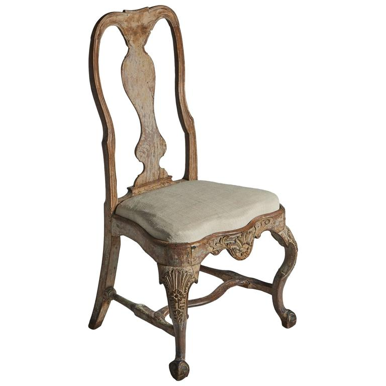 18th Century Swedish Chair For Sale