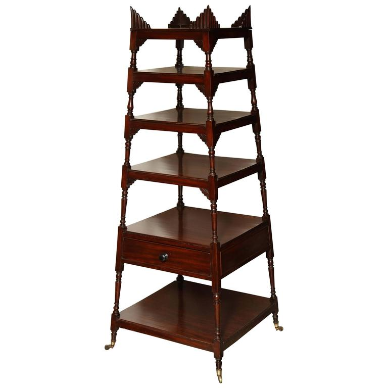 very fine regency etagere for sale at 1stdibs. Black Bedroom Furniture Sets. Home Design Ideas