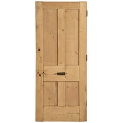 Antique Irish Pine Scrubbed Exterior Door