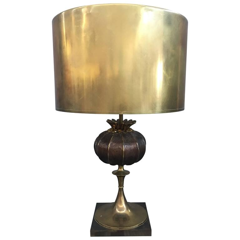 Elegant Bronze Table Lamp Signed Maison Charles