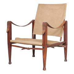 Mid-Century Kaare Klint Safari Chair by Rud. Rasmussen Designed in 1933