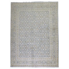 Blue Persian Tabriz Room Size Carpet
