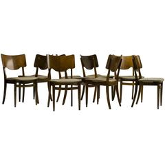 Set of Eight Scandinavian Dining Chairs