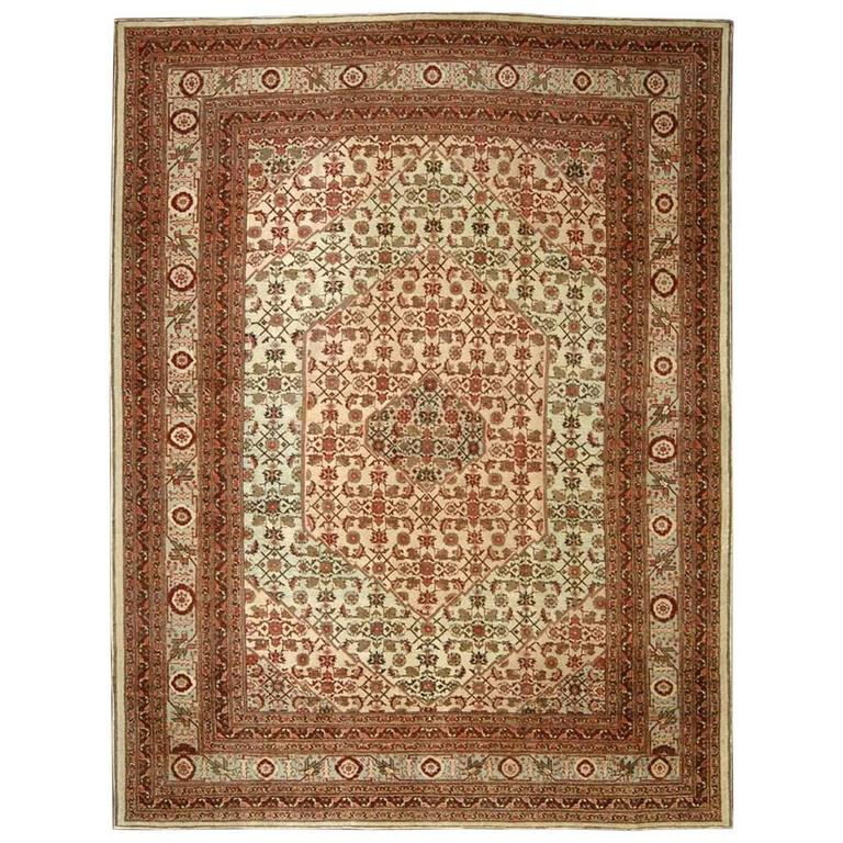 Persian Tabriz Mahi Fish Carpet For