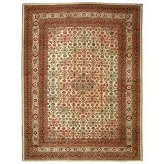 Persian Tabriz Mahi Fish Carpet