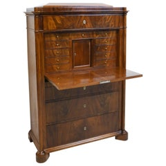 Louis Philippe Cuban Mahogany Secretary, Northern Europe, circa 1835