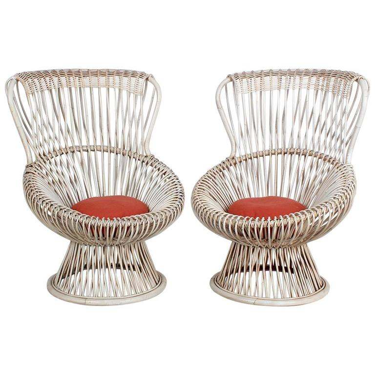Pair of Margherita Chairs by Franco Albini For Sale