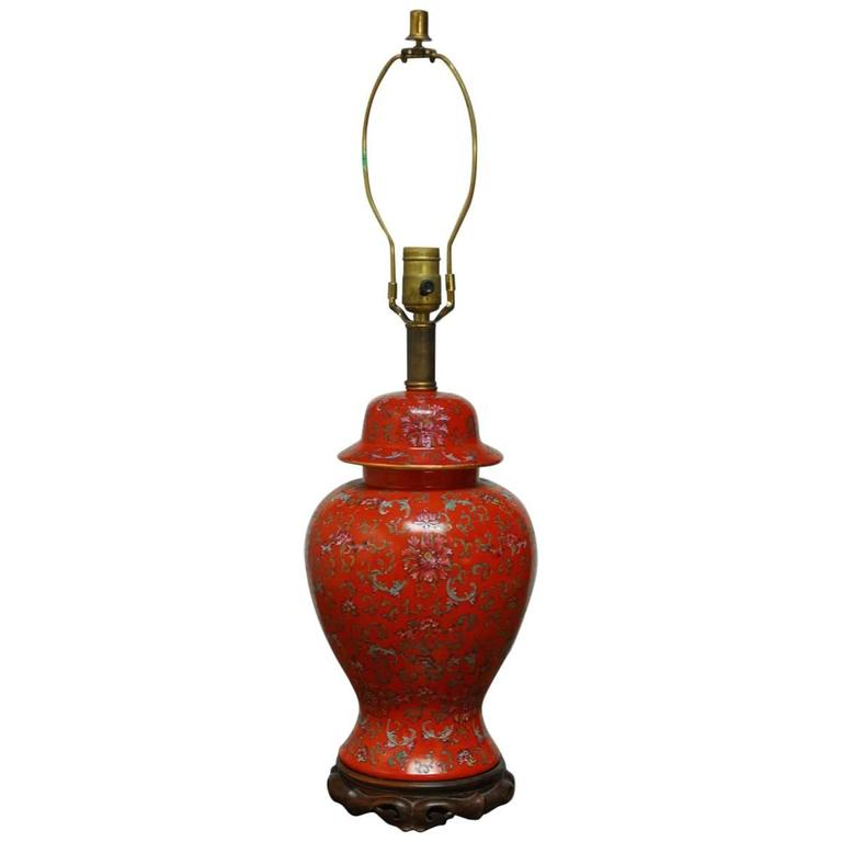 this chinese red ginger jar table lamp is no longer available. Black Bedroom Furniture Sets. Home Design Ideas