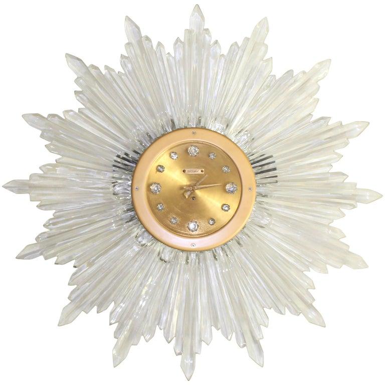 Original 1948 Baccarat Sun Clock For Sale