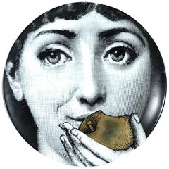 Atelier Fornasetti Gold Tema E Variazioni Apple Plate, Number 360