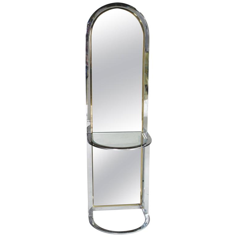 Pace Collection Entryway Free Standing Racetrack Mirror For Sale