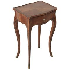 18th Century Louis XV Period Rosewood Side Table, Nightstand with Drawer