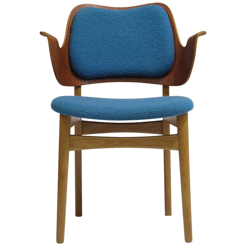 Hans Olsen Danish Chair in Blue at 1stdibs