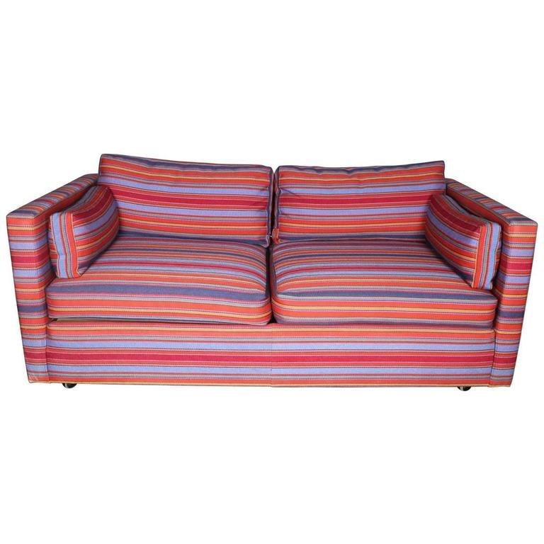 Vintage Harvey Probber Style Tuxedo Loveseat Length Sofa For Sale at ...