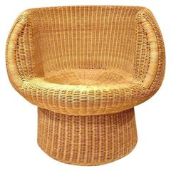 Sculptural Wicker Chair