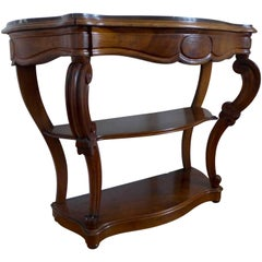 Beautiful 19th Century Antique French Walnut Console