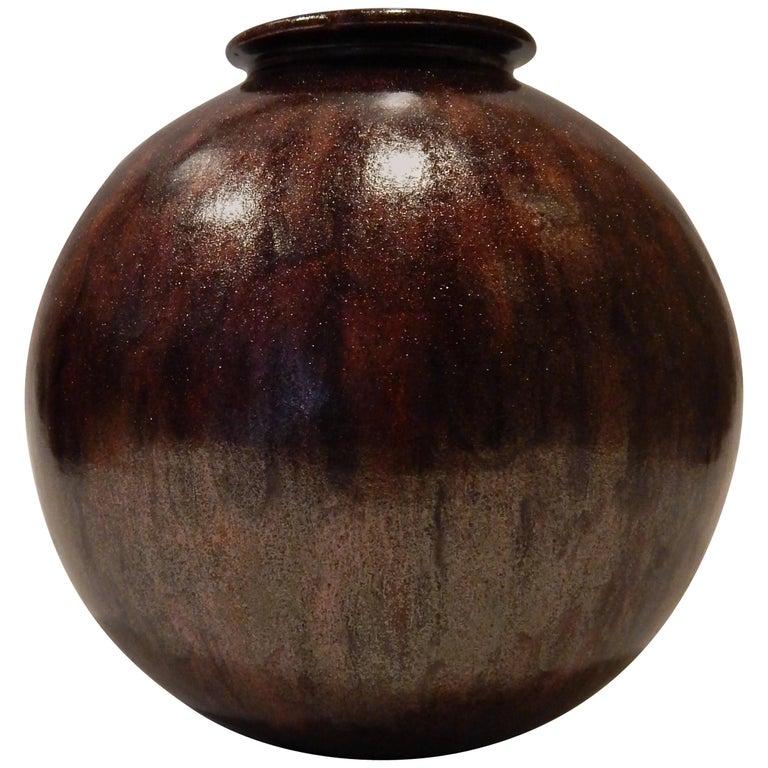 James Lovera California Studio Potter Ceramic Vase, circa 1950s-1960s For Sale