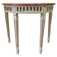 19th Century French Elegant Solid Wood Console in Louis XV Style