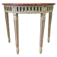 19th Century Elegant Solid Wood Console, Louis XV Style