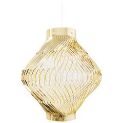 Artecnica Vortex Light, Solid Brass, Designed by Amanda Betz, Danish Architect