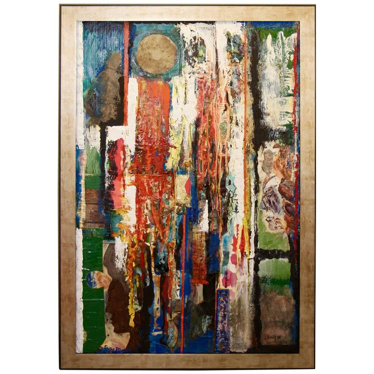 George Dergalis 1998 Mixed-Media on Acid Free Board Newly Framed 1