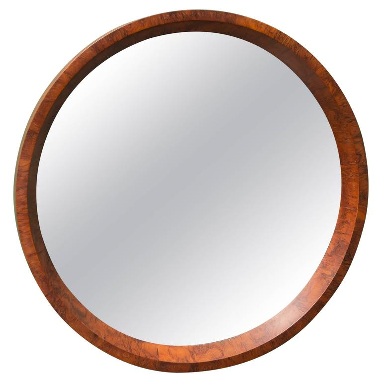 Swedish Burl Elm Mirror 1