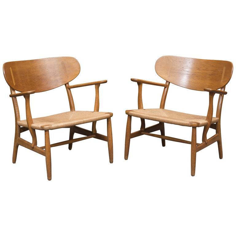 Hans Wegner Easy Chairs, Model CH 22 1