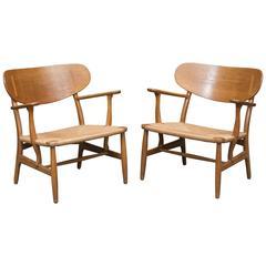 Hans Wegner Easy Chairs, Model CH22