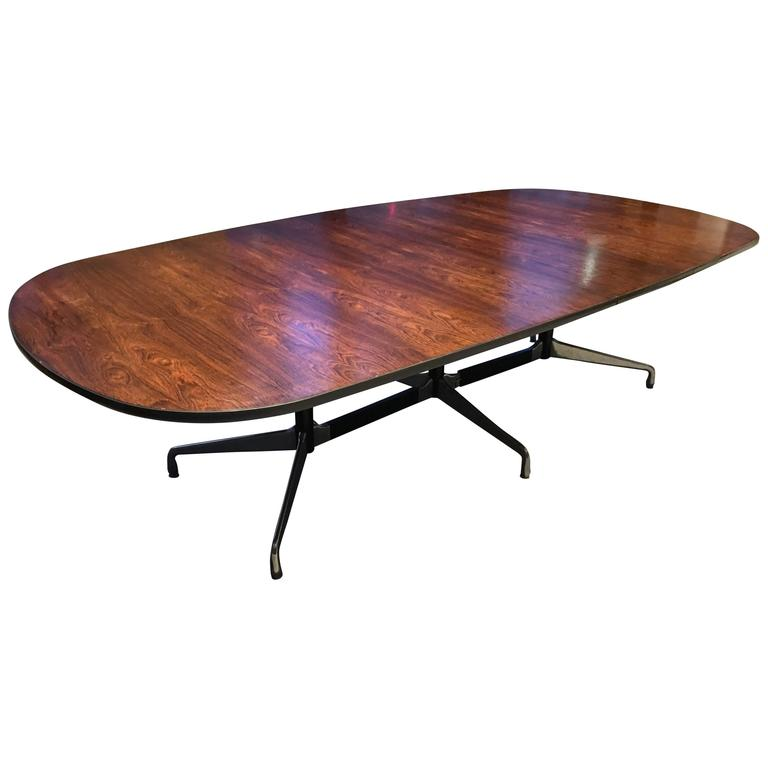 Charming Spectacular Herman Miller Eames Brazilian Rosewood Dining Or Conference  Table For Sale