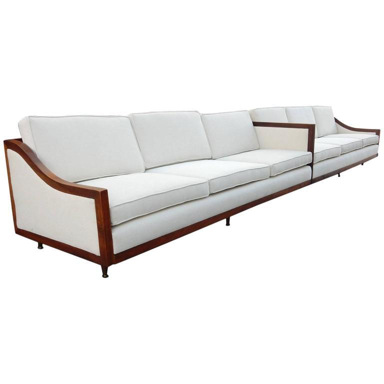14 foot Mid-Century Modern Sofa Sectional, circa 1960s