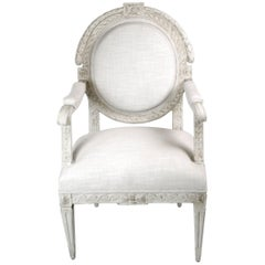 Late 19th Century French Louis XVI Fauteuil
