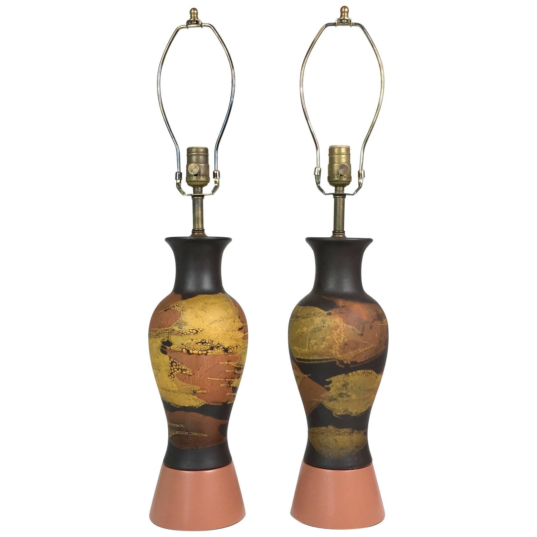 Pair of Royal Haeger Lamps