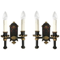 Pair of Scottish Thistle Sconces