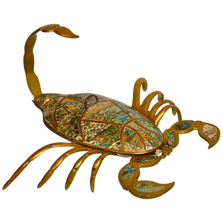 Gilt Scorpion with Mother-of-Pearl