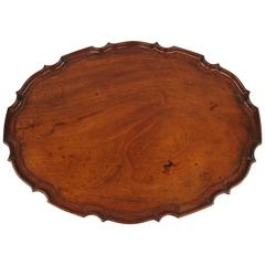 Fine George III Mahogany Tray with Pie Crust Edge