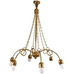 20th Century Josef Hoffmann & Wiener Werkstaette Chandelier, Re-Edition 1923