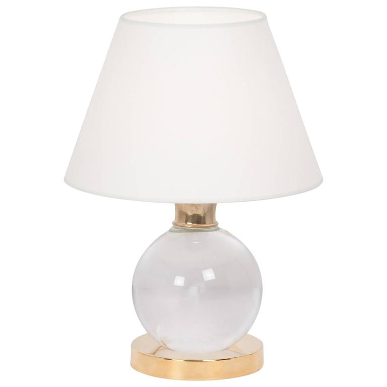 pivoting crystal ball table lamp for sale at 1stdibs. Black Bedroom Furniture Sets. Home Design Ideas