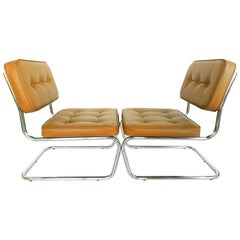 Pair of Tan Mb-Tex Lounge Chairs, circa 1970