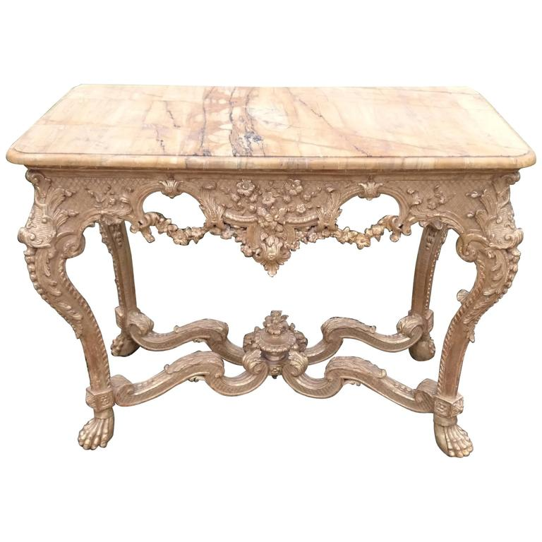 18th Century, George II Period Gilt Console Table with Marble Top