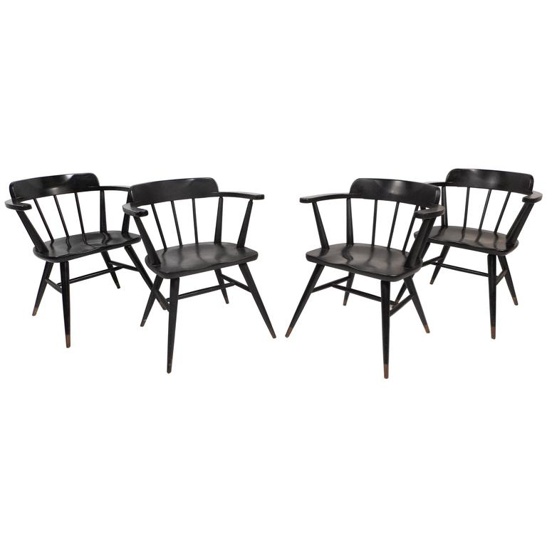 set of midcentury modern dining chairs 1