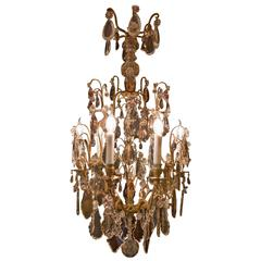 French Louis XV Style, Gilt Bronze and Crystal Chandelier Attributed to Baccarat