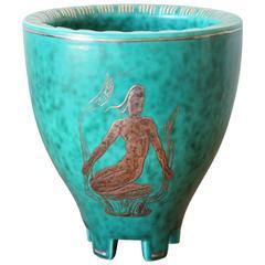 Wilhelm Kage Gustavsberg Argenta Nude Vase