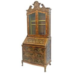 Late 18th Century English George III Mahogany Bureau Bookcase 'Secretaire'