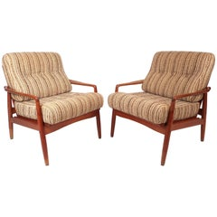 Pair of Mid-Century Modern SL Mobler Danish Teak Lounge Chairs