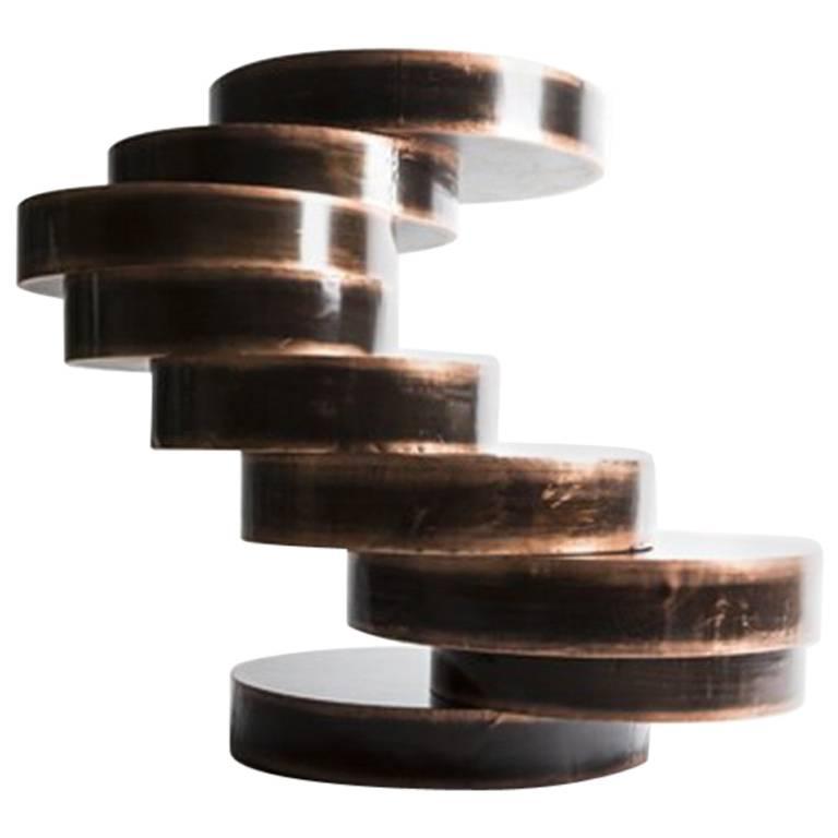 Mauro Mori Movimento IV Table in Fondente Copper