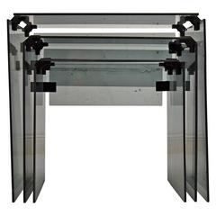 Mid-Century Modern Glass Nesting Tables
